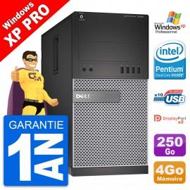 PC Tour Dell 7020 Intel Pentium G3220 RAM 4Go Disque Dur 250Go Windows 10 Wifi