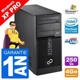PC Tour Fujitsu Esprimo P400 Intel G630 RAM 4Go Disque Dur 250Go Windows 10 Wifi