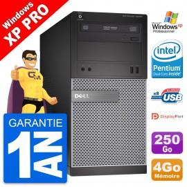 PC Tour Dell OptiPlex 3020 Intel G3220 RAM 4Go Disque Dur 250Go Windows 10 Wifi