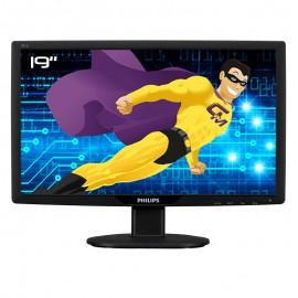 """Ecran PC Pro 19"""" PHILIPS 191V2SB LCD TFT VGA DVI-D WideScreen VESA 16:9 1366x768"""
