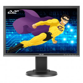 "Ecran PC Pro 22"" ASUS VW22ATL LED TFT WideScreen 16:10 VGA DVI-D VESA"