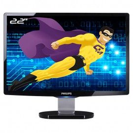 "Ecran PC 22"" PHILIPS Brilliance 220C1SB MWC1220I VGA DVI-D USB WideScreen 16:10"