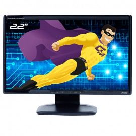 "Ecran PC 22"" iiyama Prolite E2208HDD PL2201 WideScreen LCD TFT TN VGA DVI-D 16:9"