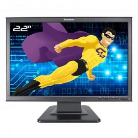 """Ecran PC Pro 22"""" Lenovo D221 6622-HB1 41A1955 LCD TFT TN VGA DVI-D 16:10 Wide"""