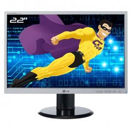 """Ecran PC Pro 22"""" LG Flatron L225WT-SF LCD TFT TN VGA DVI-D WideScreen 16:10"""
