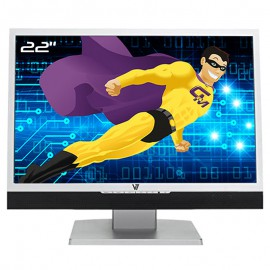 """Ecran Plat PC 22"""" V7 R22W01-E5 R22W02 VIDEOSEVEN TFT TN LCD VGA WideScreen 16:10"""