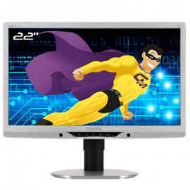 """Ecran PC 21,5"""" PHILIPS 221B3L 221B3LPCS/02 LCD LED TFT VGA DVI-D USB VESA 16/9"""