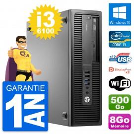 PC HP EliteDesk 800 G2 SFF Intel i3-6100 RAM 8Go Disque 500Go Windows 10 Wifi
