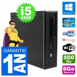 PC HP EliteDesk 800 G2 SFF Intel i5-6500 RAM 8Go Disque 500Go Windows 10 Wifi