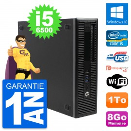 PC HP EliteDesk 800 G2 SFF Intel i5-6500 RAM 8Go Disque Dur 1To Windows 10 Wifi