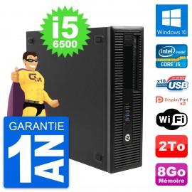 PC HP EliteDesk 800 G2 SFF Intel i5-6500 RAM 8Go Disque Dur 2To Windows 10 Wifi