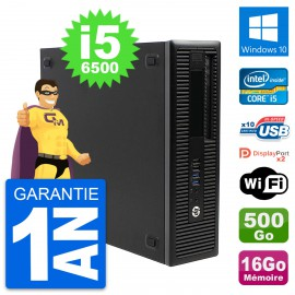 PC HP EliteDesk 800 G2 SFF Intel i5-6500 RAM 16Go Disque 500Go Windows 10 Wifi