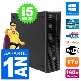 PC HP EliteDesk 800 G2 SFF Intel i5-6500 RAM 16Go Disque 1To Windows 10 Wifi