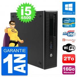 PC HP EliteDesk 800 G2 SFF Intel i5-6500 RAM 16Go Disque 2To Windows 10 Wifi