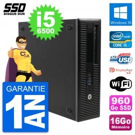 PC HP EliteDesk 800 G2 SFF Intel Core i5-6500 RAM 16Go SSD 960Go Windows 10 Wifi