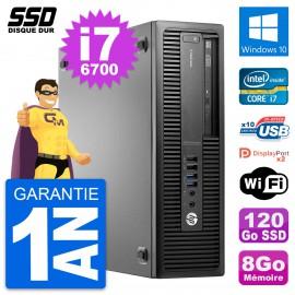 PC HP EliteDesk 800 G2 SFF Intel Core i7-6700 RAM 8Go SSD 120Go Windows 10 Wifi