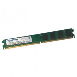 2Go RAM PC Bureau Elephant Memory PC2-6400 DDR2 DIMM 800Mhz 2Rx8 16C Low Profile
