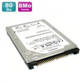 "Disque Dur PC Portable 80Go IDE 2.5"" Hitachi 4K120 HTS421280H9AT00 4200RPM 8Mo"