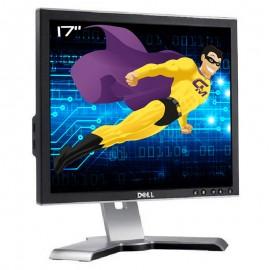 "Ecran Plat 17"" DELL 1707FPc 0DC371 VGA DVI Hub 4x USB Rotation Pied Pivotant"