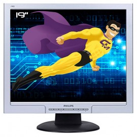 """Ecran PC Pro 19"""" PHILIPS 190S8FS HNS8190T LCD TFT VGA DVI VESA Widescreen Gris"""