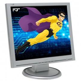 "Ecran PC Pro 19"" PHILIPS 190S6FS A3KM141 LCD TFT VGA VESA Widescreen Argenté"