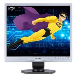 "Ecran PC Pro 19"" PHILIPS 19S1SS MNS1190T LCD TFT VGA DVI VESA 1280x1024 48cm"