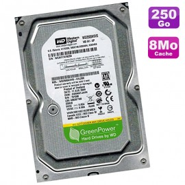 "Disque Dur 250Go SATA 3.5"" Western Digital GreenPower WD2500AVVS-61L2B0 7200 8Mo"
