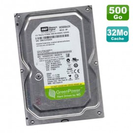 "Disque Dur 500Go SATA 3.5"" WD GreenPower WD5000AUDX-56WNHY0 5400RPM 32Mo"