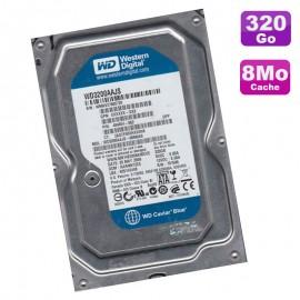 """Disque Dur 320Go SATA 3.5"""" Western Digital Caviar Blue WD3200AAJS-60M0A0 7200 8Mo"""