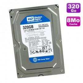 """Disque Dur 320Go SATA 3.5"""" Western Digital Caviar Blue WD3200AAJS-55M0A0 7200 8Mo"""