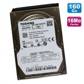 "Disque Dur 160Go SATA 2.5"" Toshiba MK1661GSYFN HDD2F64 7200RPM PC Portable 16Mo"