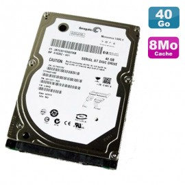 "Disque Dur 40Go SATA 2.5"" Seagate Momentus 5400.3 ST940814AS 8Mo PC Portable"