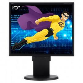 "Ecran PC Pro 19"" NEC MultiSync LCD195NX-BKBK L194F2 LCD TFT VGA DVI Audio VESA"