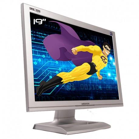 "Ecran PC Pro 19"" MEDION FLATPRO MD 30999PE LCD TFT VGA Audio VESA 1440x900 16:10"