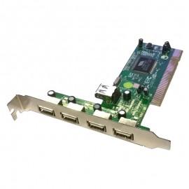 Carte Adaptateur PCI 4+1 Ports USB ADVANCE SIMT10C 480Mbps PC MAC
