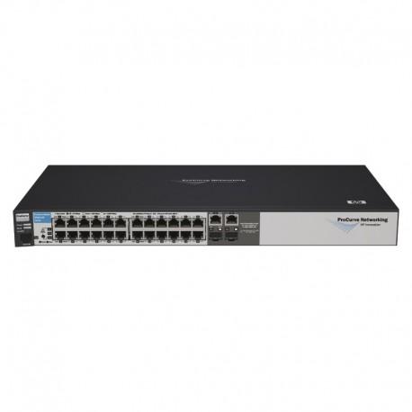 Switch Rack 24+2 Ports RJ45 HP 2510-24 J9019B 10/100/1000Mbps 2xGBIC SFP GIGABIT