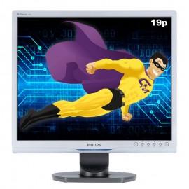 "Ecran Plat PC 19"" PHILIPS 190S9FS LCD TFT DVI-D VGA 1280x1024 5:4 VESA 5ms"