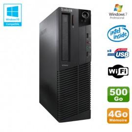 PC Lenovo M91p 7005 SFF Intel G630 2,7Ghz 4Go Disque 500Go WIFI W7 Pro
