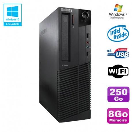 PC Lenovo M91p 7005 SFF Intel G630 2,7Ghz 8Go Disque 250Go WIFI W7 Pro