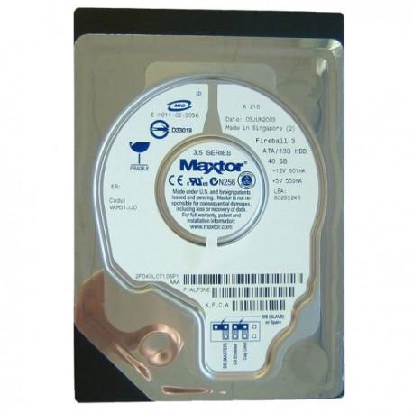 "Disque Dur 3.5"" IDE Maxtor Fireball 3 2F040L0 40GB 5400 RPM 2MB Cache Ultra ATA"
