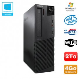 PC Lenovo M91p 7005 SFF Intel G630 2,7Ghz 4Go Disque 2To WIFI W7 Pro