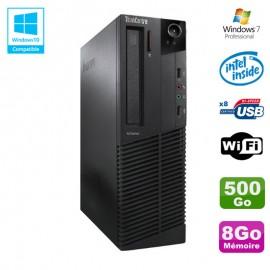 PC Lenovo M91p 7005 SFF Intel G630 2,7Ghz 8Go Disque 500Go WIFI W7 Pro