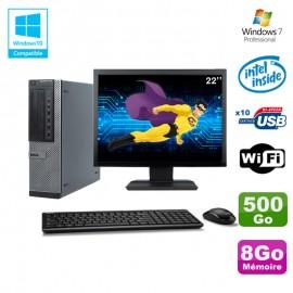 """Lot PC Dell 790 DT G630 2.7Ghz 8Go Disque 500Go DVD WIFI Win 7 + Ecran 22"""""""