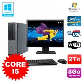 """Lot PC Dell 790 DT I5-2400 3.1Ghz 8Go Disque 2000Go DVD WIFI Win 7 + Ecran 17"""""""