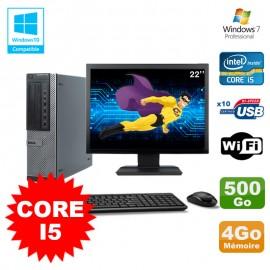 """Lot PC Dell 790 DT I5-2400 3.1Ghz 4Go Disque 500Go DVD WIFI Win 7 + Ecran 22"""""""