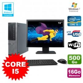 """Lot PC Dell 790 DT I5-2400 3.1Ghz 16Go Disque 500Go DVD WIFI Win 7 + Ecran 19"""""""