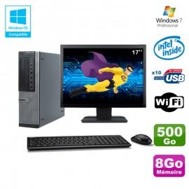 """Lot PC Dell 790 DT G630 2.7Ghz 8Go Disque 500Go DVD WIFI Win 7 + Ecran 17"""""""