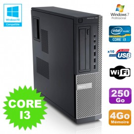 PC Dell Optiplex 790 DT Intel I3-2120 3.3Ghz 4Go Disque 250Go DVD WIFI Win 7