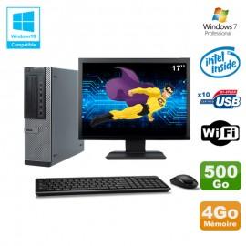 """Lot PC Dell 790 DT G630 2.7Ghz 4Go Disque 500Go DVD WIFI Win 7 + Ecran 17"""""""
