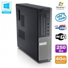 PC Dell Optiplex 790 DT Intel G630 2,7Ghz 4Go Disque 250Go DVD WIFI Win 7